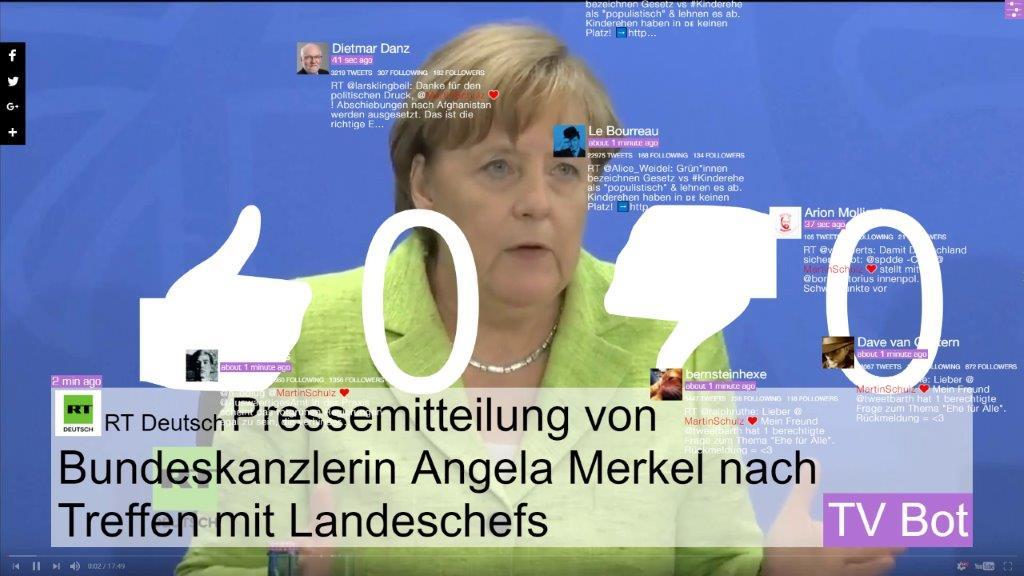 img_Marc Lee, *Bundestagswahl – Meinungskampf in den sozialen Medien*, 2017 (Screenshot), Netzwerkbasiertes Live-Fernsehprogramm © Marc Lee